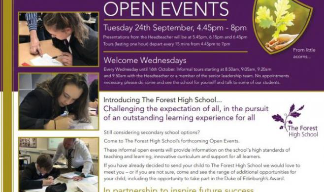 Open Evening and Welcome Wednesday Tours